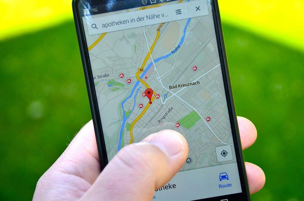 localisation sur smartphone, recherche locale